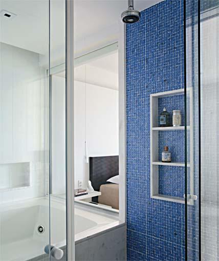 Pastilhas para banheiro decorativas ideais revestir as paredes  Wiki Mulher -> Banheiro Com Acabamento Em Pastilhas
